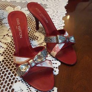 Louis Vuitton monogram Cherry Blossom Sandals  9